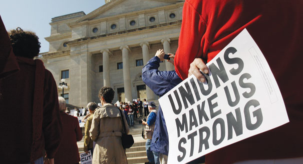 Unionization rates falling in Canada