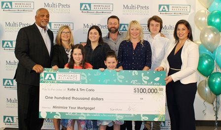 Mortgage Alliance gives away $100,000 to a lucky family from Kingston!
