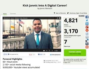 Graduate hopes to 'kick start' career