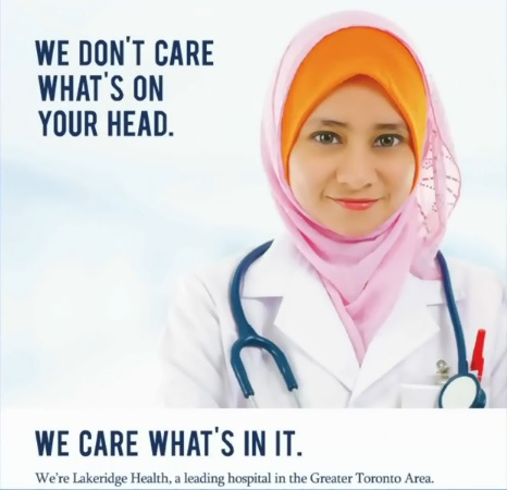 """""""Don't care what's on your head"""": hospital targets Quebec workers"""