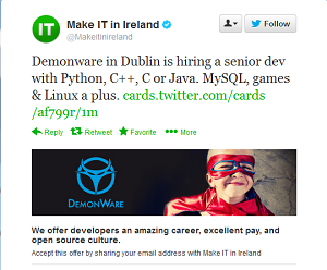 The future is here: first Twitter-integrated job ad