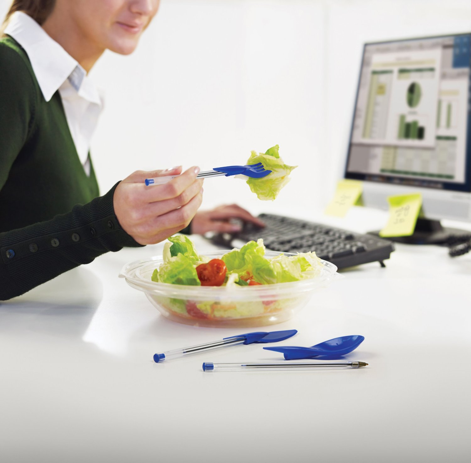 Eating at your desk? At least do it in style