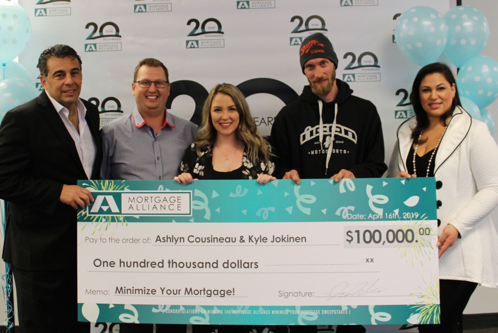 It pays to use the RightBroker®. Mortgage Alliance awards $100,000 to a lucky couple from Sudbury!