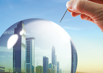 Bursting bubble predicted by more economists