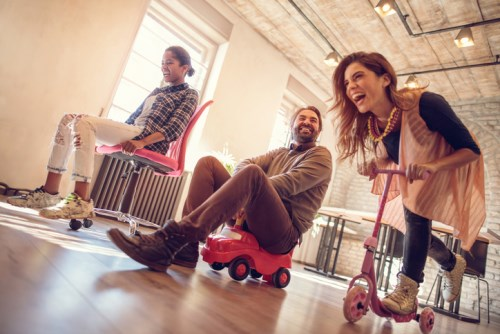 Should managers encourage fun in the office?