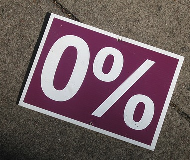 Zero per cent rate on the horizon?